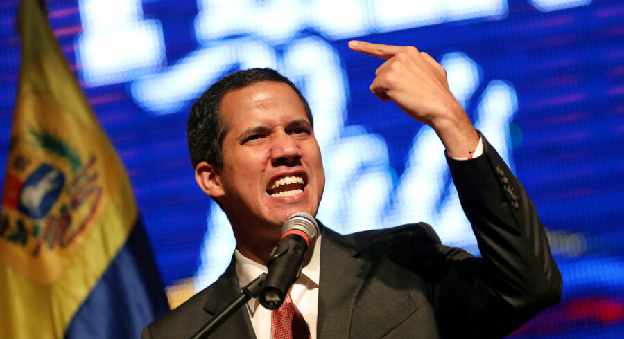 Venezuelan opposition leader Juan Guaido, who many nations have recognised as the country's rightful interim ruler, addresses the audience at the Metropolitan University in Caracas, Venezuela June 19, 2019. REUTERS/Manaure Quintero NO RESALES.NO ARCHIVES.