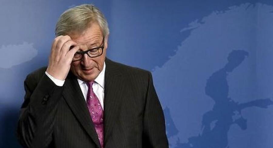 »Jeg har oplevet Juncker ad flere omgange i Bruxelles – både i store og små forsamlinger. Han er en skikkelig, hyggelig og pragmatisk politiker,« skriver Morten Messerschmidt (DF) om Jean-Claude Juncker. Foto: Eric Vidal/Ritzau/Scanpix