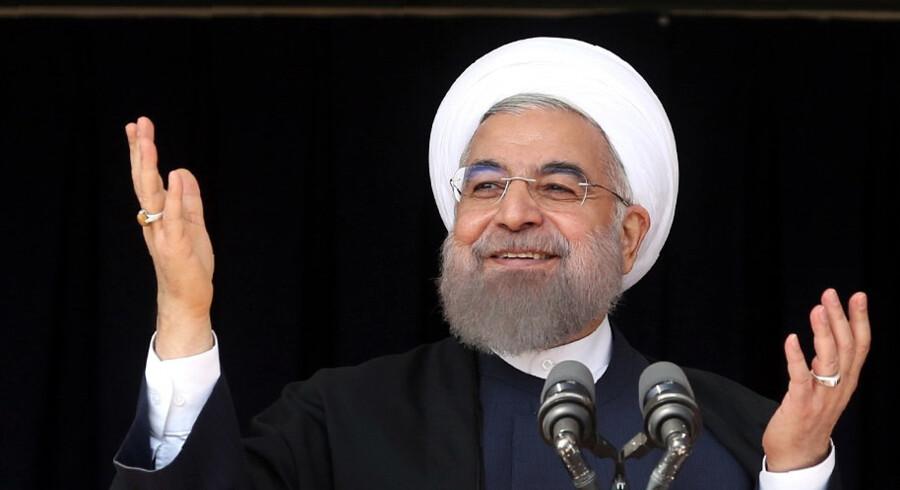 Ifølge inspektører fra det Internationale Atomagentur overholdte Iran deres ende af atomaftalen inden USA's udtrækning. Nu vil Iran, ifølge præsident Hassan Rouhani, bevidst krydse grænseværdier for berigelse af uran. Ho/Ritzau Scanpix