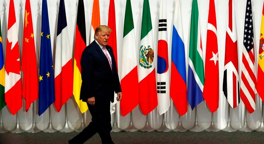 Den amerikanske præsident, Donald Trump, ankommer til Osaka i Japan for at deltage i G20-topmødet.