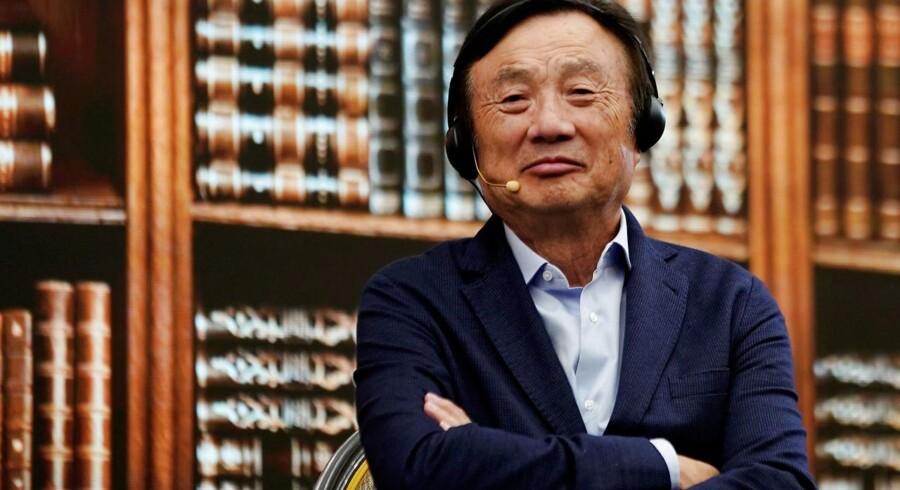 »Lad dem kæmpe,« lyder budskabet fra Huaweis stifter og grå eminence, Ren Zhengfei, til USA, som han forventer vil forsøge at spænde endnu mere ben for den kinesiske mobilgigant. Arkivfoto: Aly Song, Reuters/Ritzau Scanpix