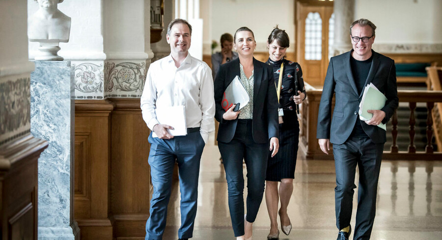Martin Rossen - yderst til højre - bliver nærmeste rådgiver for statsminister Mette Frederiksen og chef for det nye politiske sekretariat i Statsministeriet.
