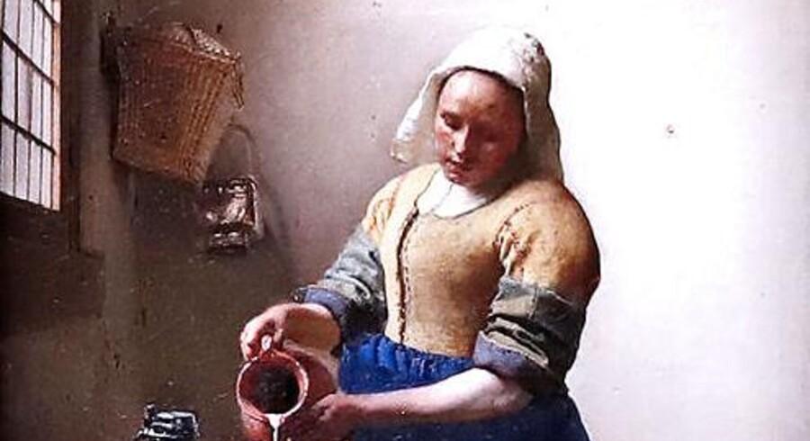 Johannes Vermeers malerier fra de stille stuer, hvor dagslyset falder blidt ind fra siden, er billeder af borgerlighedens sjæl, skriver Jens Christian Grøndahl. Den hollandske kunstmaler levede 1632-75. Billedet »The Milkmaid« malede han i 1657-58.