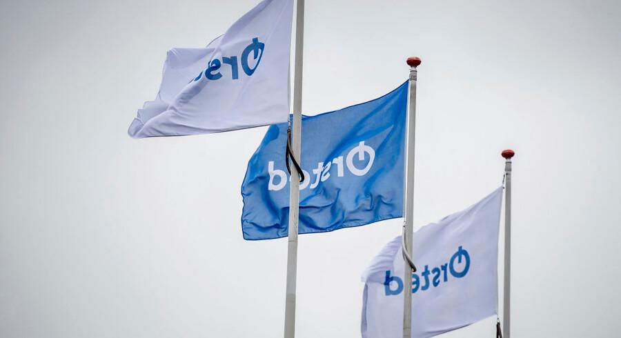 (ARKIV) Dong Energy afslører selskabets nye navn på et pressemøde i hovedkvarteret i Gentofte mandag d. 2. oktober 2017. Energikoncernen Ørsted kommer med regnskab for 2018 torsdag den 31. januar 2019.. (Foto: Mads Claus Rasmussen/Ritzau Scanpix)