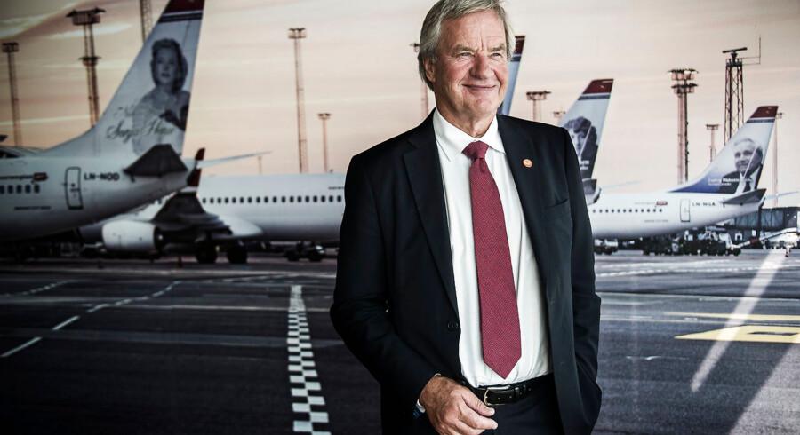 Norwegians afgående adm. direktør, Bjørn Kjos, fotograferet i Københavns Lufthavn. I mange år har Bjørn Kjos været ansigtet på Norwegian – men nu træder han tilbage.