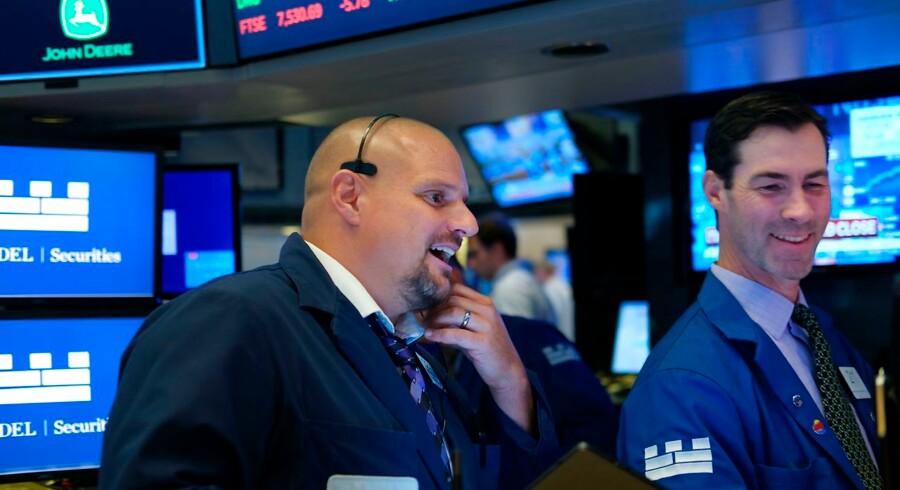 Jaaaa, så ramte amerikanske aktier igen en ny rekord. Foto: Spencer Platt/Getty Images/AFP/Ritzau Scanpix