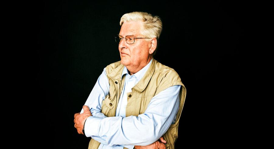 »Min kone sagde altid, at palæstinenseren blev 'sat ind'. Hun blev simpelthen sat ind.« Povl Heinrich Riis-Knudsen blev i 1992 smidt ud som chef for DNSB, da han blev kæreste med en palæstinensisk kvinde. Foto: Jonas Pryner Andersen