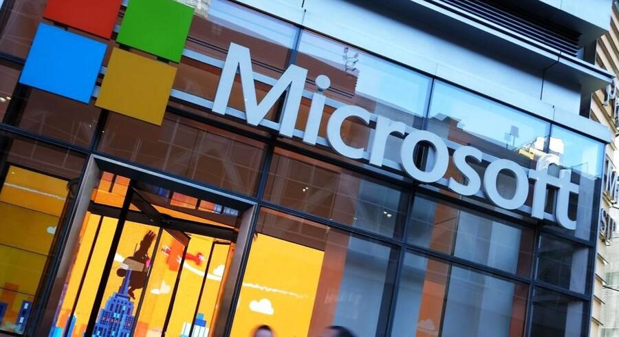Datatilsynet i den tyske delstat Hessen indfører forbud mod, at skolebørn må bruge Microsofts Office 365-programmer – og tilsvarende fra Apple og Google –, fordi de sender data om brugen af sted til USA. Arkivfoto: Jewel Samad, AFP/Ritzau Scanpix