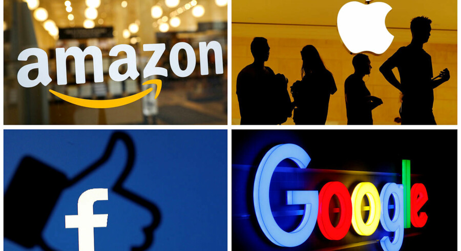 FILE PHOTO: The logos of Amazon, Apple, Facebook and Google are seen in a combination photo from Reuters files. REUTERS/File Photos -/File Photo