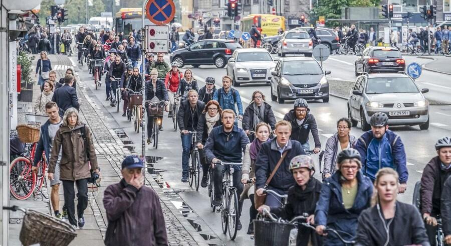 København har endnu en gang vundet titlen som verdens bedste cykelby, men »København kan ikke hvile på laurbærrene, og national lovgivning må følge med,« skriver Morten Kabell om Københavns fremtid som cykelby. Arkivfoto: Lars Bahl/Ritzau Scanpix