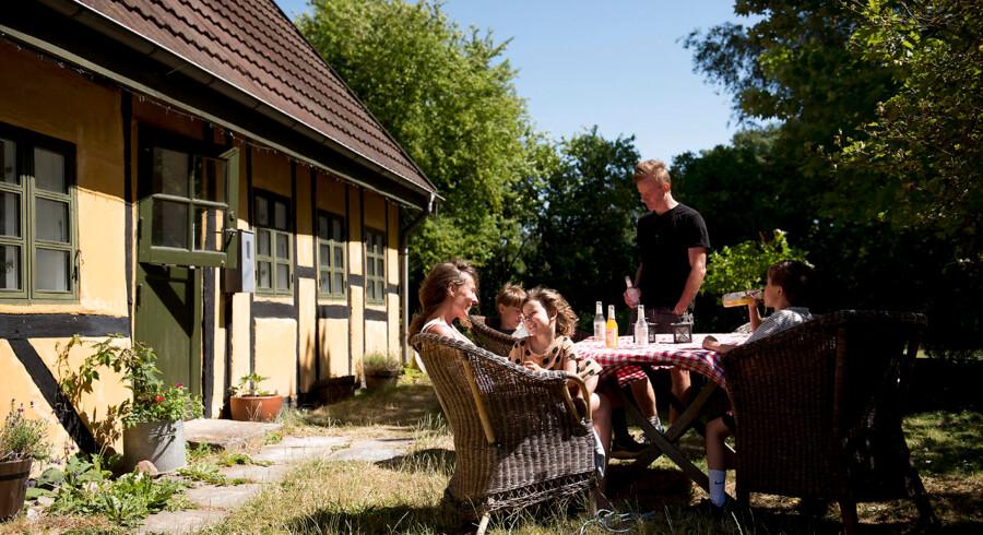 Familien Brinch fra København købte i 2017 en fleksbolig på Lolland til 450.000 kroner. De havde været på udkig efter et sommerhus i ti år.