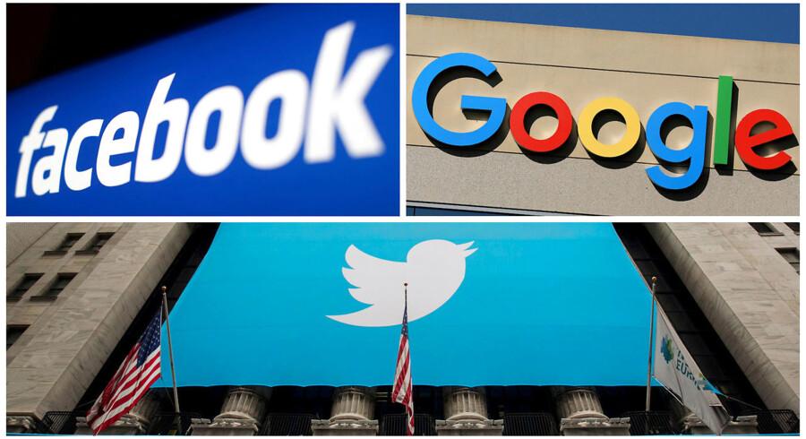 Tech-giganter som Facebook, Google og Twitter er endt som ejere af vores fælles rum. hvilket bør få os til at stille spørgsmålet, om det er i orden, mener Vincent Hendricks. Arkivfoto: Reuters/Ritzau Scanpix