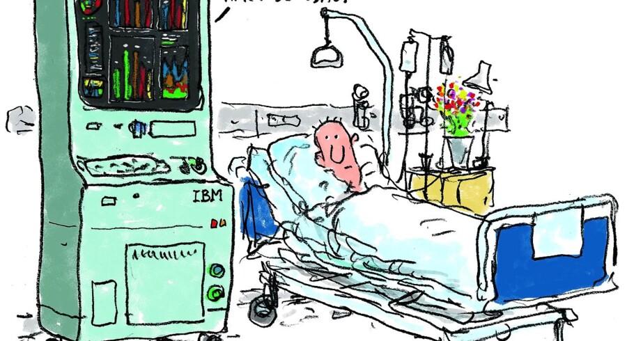 Flere steder i sundhedsvæsenet kører forsøg med kunstig intelligens, som vurderes at kunne komme patienterne til gavn ved, at de får en mere målrettet behandling. Kræftafdelingen på Rigshospitalet var på et tidspunkt involveret i et forsøgsprojekt med supercomputeren »Dr. Watson«, som kan »forstå« 200 mio. digitalt lagrede sider og foreslå en behandlingsplan inden for tre sekunder – om end den ikke altid ramte helt rigtigt, da den blev afprøvet