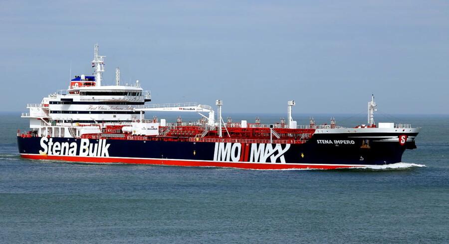 Det britiske olietankskib »Stena Impero« bliver i øjeblikket tilbageholdt i Iran. Det har pustet til ilden i den intense konflikt mellem USA, Iran og EU.