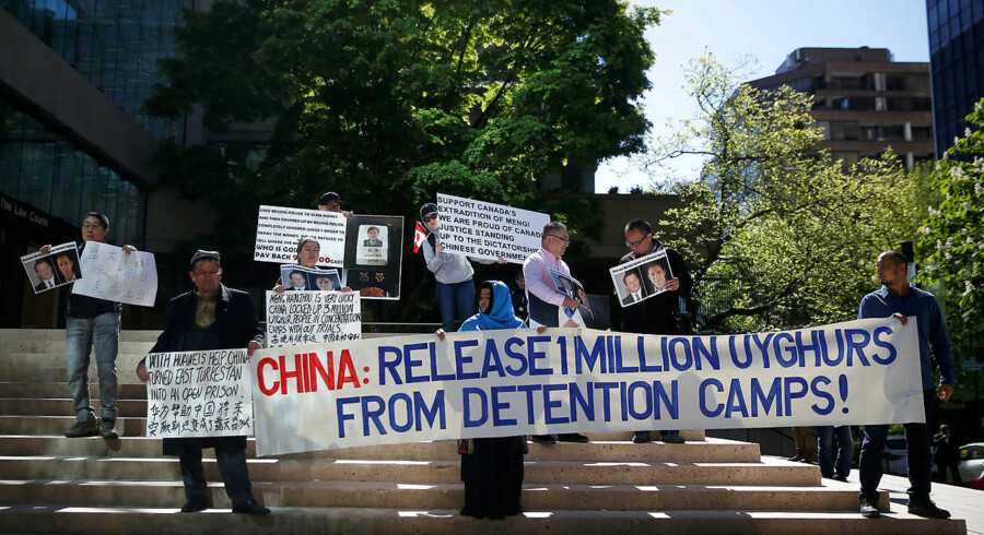 En million mennesker fra det muslimske Uighur-folk er sendt i »genopdragelseslejre« af det kinesiske styre. Da 22 vestlige lande protesterede over det i FNs Menneskerettighedsråd, bakkede 37 lande Kina op. Herunder muslimske lande som Saudi-Arabien, Egypten og Pakistan. Arkivfoto: Lindsey Wasson/Reuters/Ritzau Scanpix