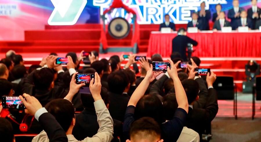 Der var stor entusiasme, da Star Market blev introduceret mandag i Kina.