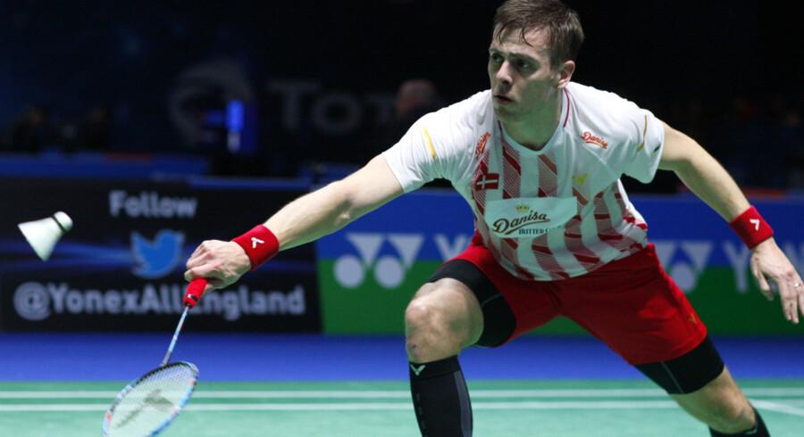 Hans-Kristian Vittinghus kan pakke sammen efter førstedagen af Japan Open. Sportxpress/Ritzau Scanpix