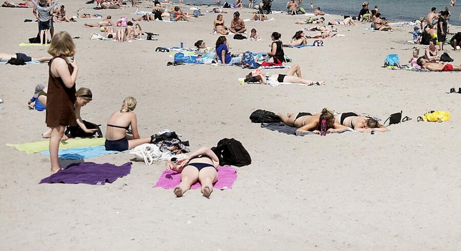 Der er ifølge DMI udsigt til op til 30 grader onsdag. (Arkivfoto) Liselotte Sabroe/Ritzau Scanpix