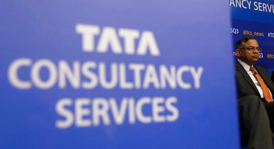 Den indiske virksomhed Tata Consultancy Services (TCS) har to selskaber i Danmark - et med overenskomst og et uden. Selskabet uden overenskomst har haft en markant vækst i antallet af medarbejdere, mens det for det andet er gået stik modsat. Arkivfoto: Reuters/Ritzau Scanpix