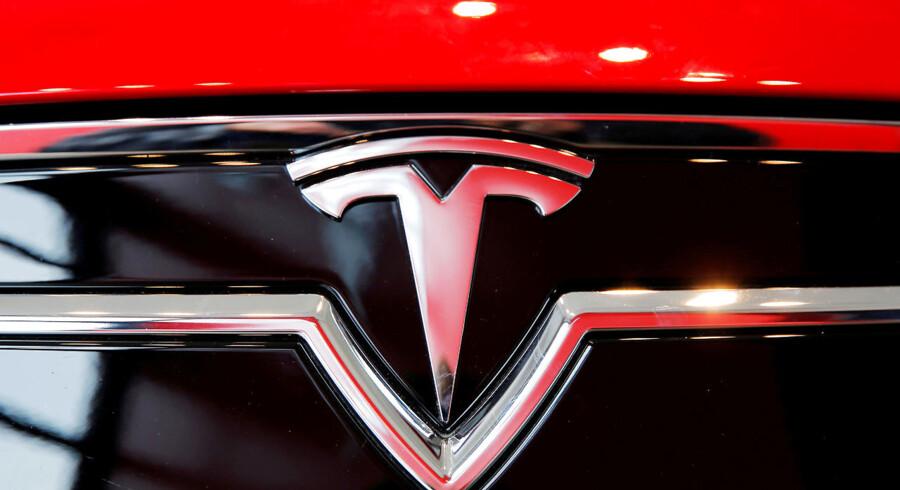 Tesla-aktien får tæv efter et skuffende regnskab. Foto: Reuters/Lucas Jackson/Ritzau Scanpix