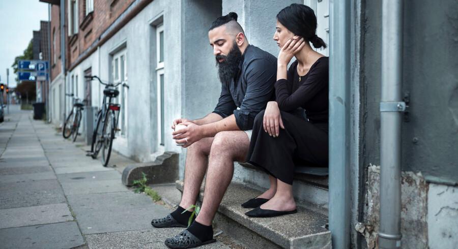Bashar Jassim Al Kim bor i Vejle med sin kone, Rafel Al Shamri. Men det er ikke sikkert, at han i fremtiden vil få lov til at blive boende.