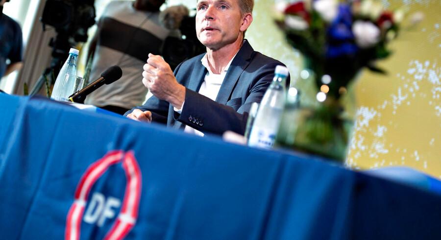 DF-formand Kristian Thulesen Dahl mene, at Socialdemokratiet nøler for meget med sit pensionsudspil. - Foto: Henning Bagger/Ritzau Scanpix