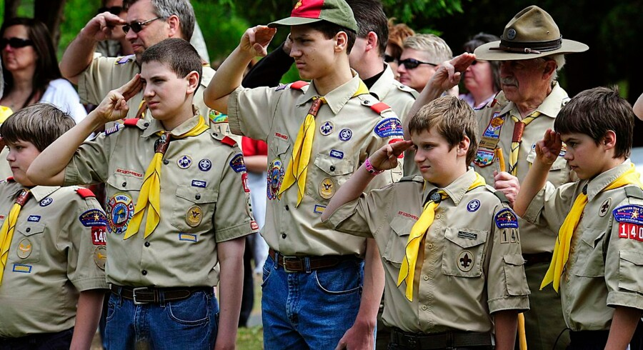 Arkivfoto. Drengene på billedet har intet med de formodede overgreb at gøre. Boy Scouts of America er USAs største spejderbevægelse med flere end to millioner medlemmer.