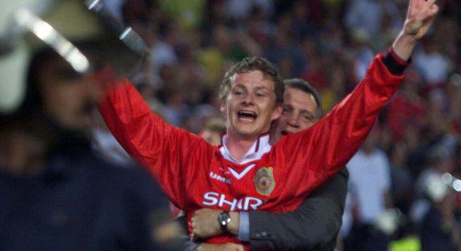Ole Gunnar Solskjær scorede sejrsmålet i Champions League-finalen i 1999. Nu er hans trøje blevet solgt på en auktion. Dan Chung/Reuters