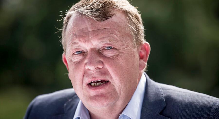 Lars Løkke Rasmussen på Venstres sommergruppemøde på Kragerup Gods.