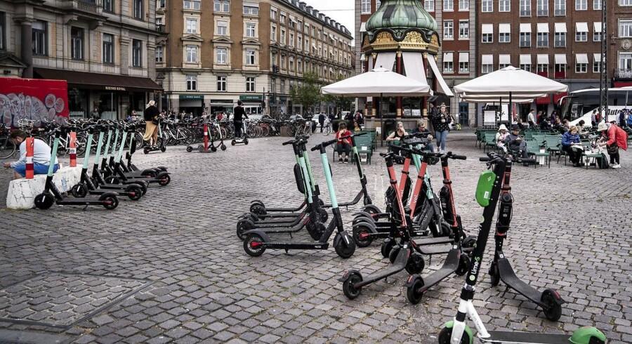 Elløbehjul på Kongens Nytorv i København.