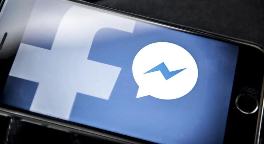 Lydoptagelser af brugere af Facebook-appen Messenger er blevet sendt til eksterne virksomheder, som har skrevet alt, der er sagt, ud. Arkivfoto: Mads Claus Rasmussen, Ritzau Scanpix