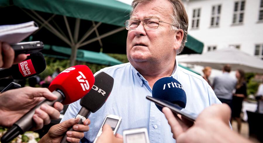 Claus Hjort Frederiksen efter Venstres pressemøde i forbindelse med sommergruppemødet på Kragerup Gods 9. august 2019.