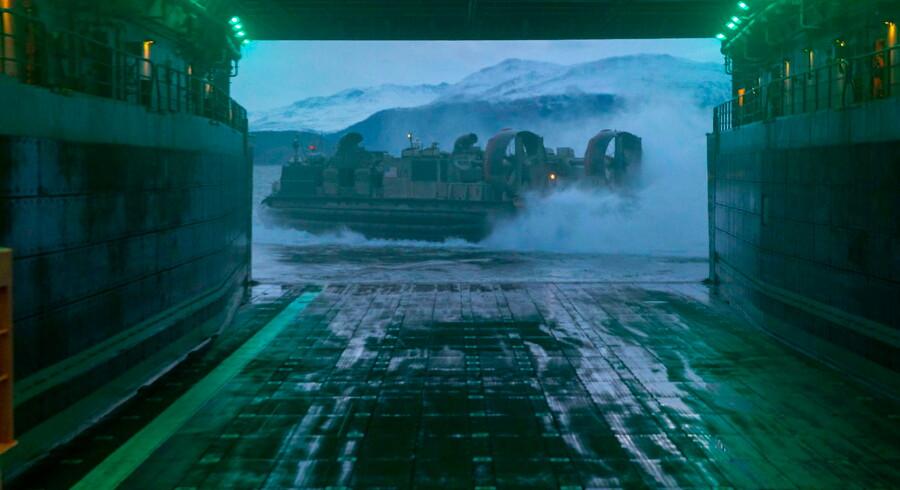 NATO-øvelsen sidste år i oktober og november gav russerne yderligere grund til at markere militær magt i den nordlige del af Norge, især ud for Tromsø. Arkivfoto: Lyle Will/EPA/Ritzau Scanpix