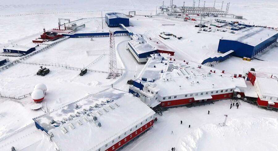 En russisk arktisk base ved Koelnij-øen beliggende mellem Laptev-havet og Det Østsiberiske Hav.