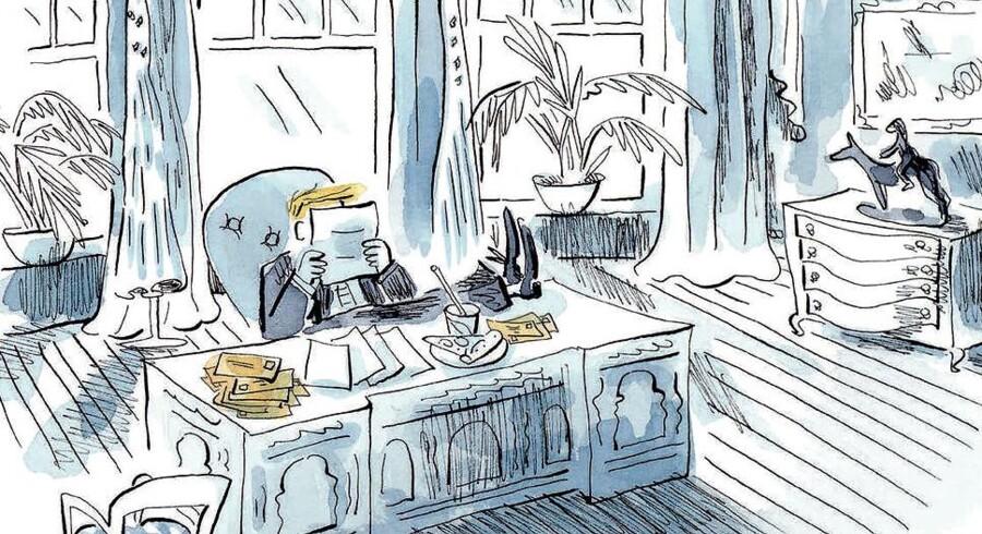 Trump i børnehøjde. Bogen »Kære Donald Trump«, der netop er udkommet på dansk ved forlaget Straarup & Co, handler om Victor, der vil bygge en mur på sit værelse, så han slipper for sin irriterende storebror. Ligesom børnebogen »Dumme Donald bygger en mur i børnehaven« handler bogen om storpolitiske slagsmål fortalt i børnehøjde.
