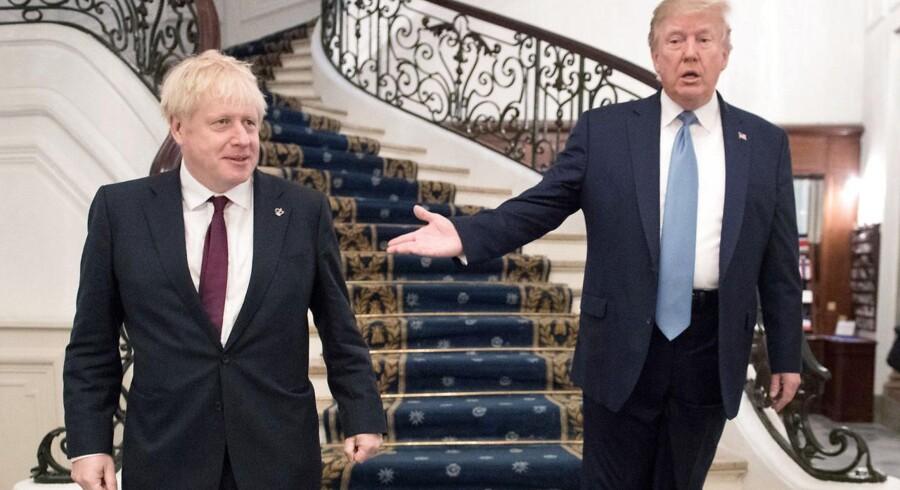 To revolutionære: Storbritanniens konservative premierminister, Boris Johnson, og USAs republikanske præsident, Donald Trump. Her under G7-mødet i franske Biarritz 25. august 2019. Foto: Ritzau/Scanpix/Stefan Rousseau/Pool via REUTERS