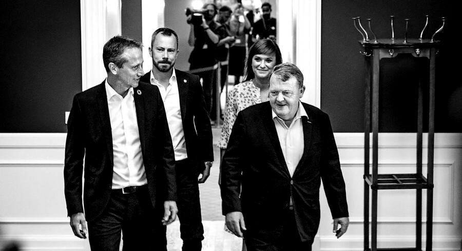 Arkivfoto. Diskussionen om Lars Løkke Rasmussen og Kristian Jensens fremtid i spidsen for Venstre blev fredag aften udskudt efter et mere end seks timer langt møde.