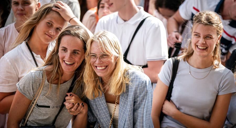 Tal fra Styrelsen for Forskning og Uddannelse viser, hvilke uddannelser der medfører den højeste løn og de bedste jobmuligheder. Her ses nye studerende på Københavns Universitet.