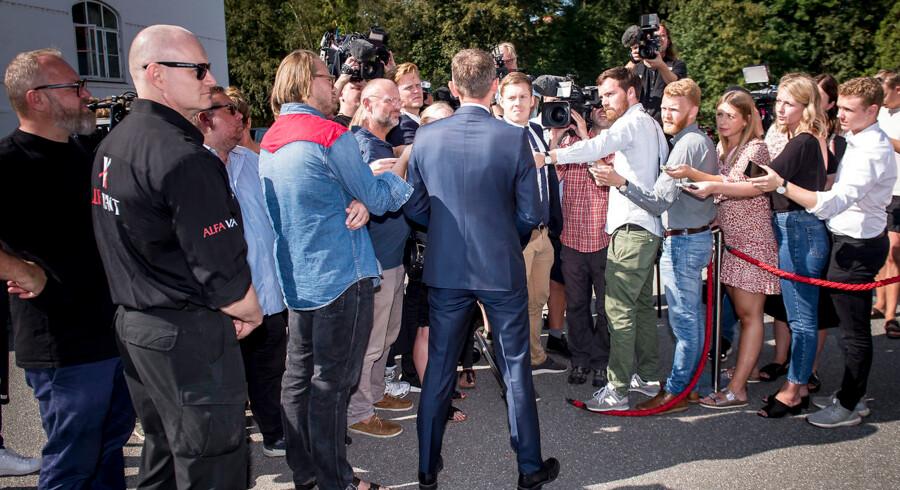 Foto af Kristian Jense, som trak sig som næstformand i Venstre efter Venstres hovedbestyrelses møde på Hotel Comwell i Brejning nær Vejle, fredag den 30. august 2019.