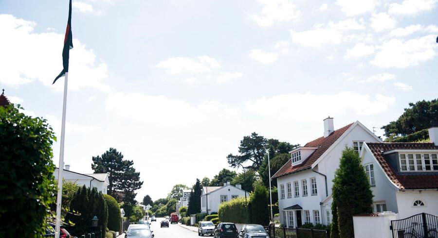 Genrebillede fra villavej i Charlottenlund.