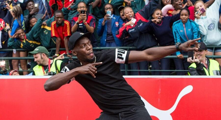 Usain Bolt har længe luftet sine planer om at trække i fodboldstøvlerne, når hans atletikkarriere var slut. Scanpix/Wikus De Wet/arkiv