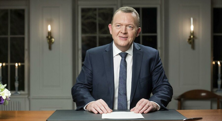 ARKIVFOTO 2015. Statsminister Lars Løkke Rasmussen holder sin nytårstale på Marienborg.