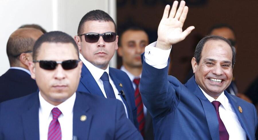 Egyptens præsident Abdel Fattah al-Sisi ved åbningen af den nye Suez-kanal tidligere i august. Nu skal Egypten - og al-Sisi - til valg.