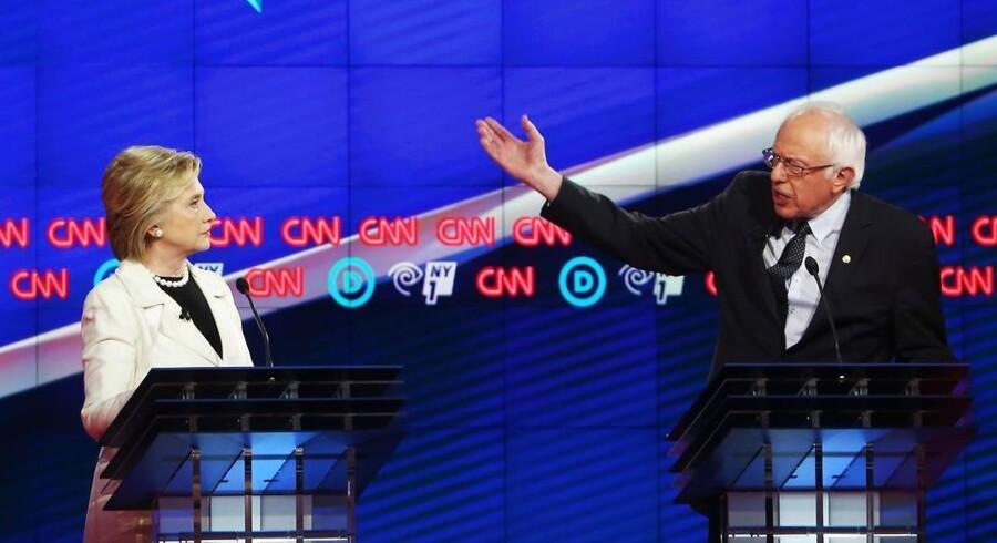 Sanders og Clinton gik til stålet i nat.