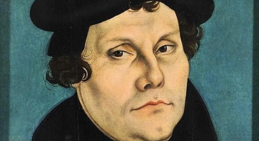 Martin Luther portrætteret af Lucas Cranach den Ældre i 1528, da hans gudstjenesteordning var indført i Sachsen.