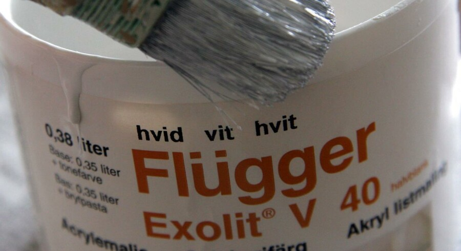 Flügger hvid maling.