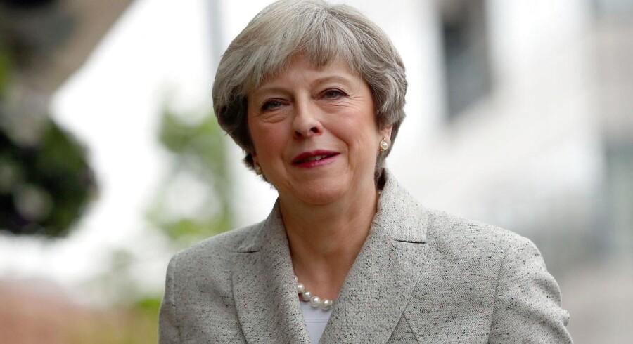 Arkivfoto. Den britiske premierminister Theresa Mays konservative parti holder partikongres, hvor tusindvis demonstrerede.