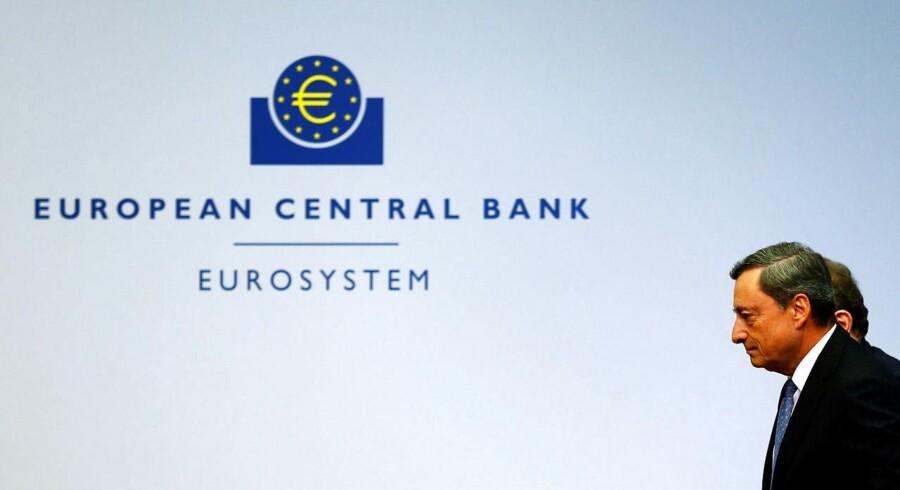 Den Europæiske Centralbank, ECB, fastholder torsdag den ledende rente, referenten, på 0,00 pct. (Arkivfoto)