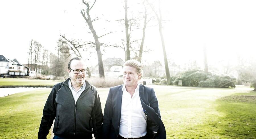Tidl. milliardær Peter Forchhammer (tv.) starter forfra med jysk LED-firma, der er drevet af Jens Hedegaard.