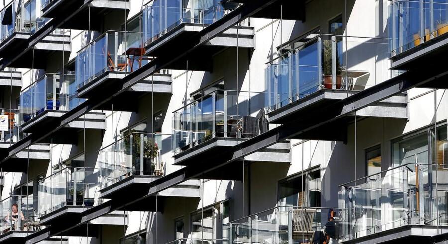 Her lejlighedskompleks på Teglholmen i Københavns Sydhavn.
